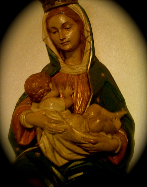 Our lady breast feeding Jesus -- Shrine of our Lady of La Leche -- St. Augustine, Florida